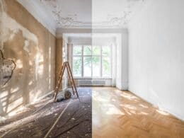 Hochflorige Appartmenwohnung im Vorher-Nachher-Vergleich