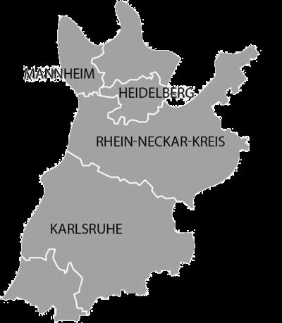 Landkarte Servicebereich A. Jahn Bauunternehmung